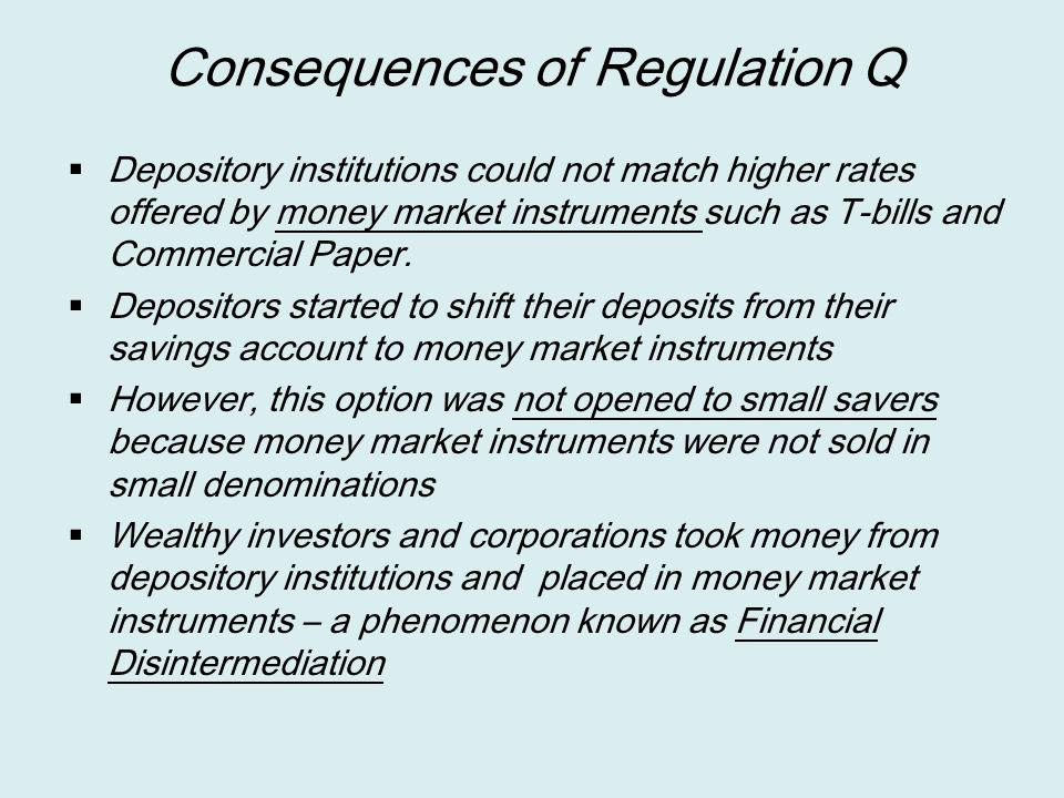 Consequences of Regulation Q