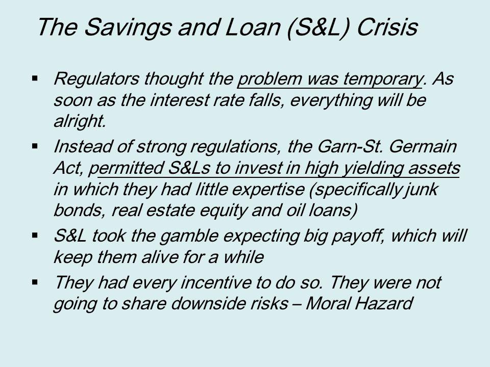 The Savings and Loan (S&L) Crisis