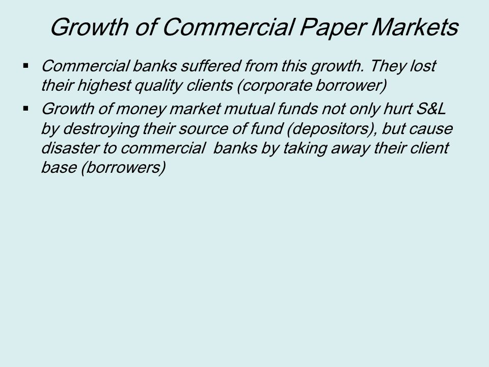 Growth of Commercial Paper Markets