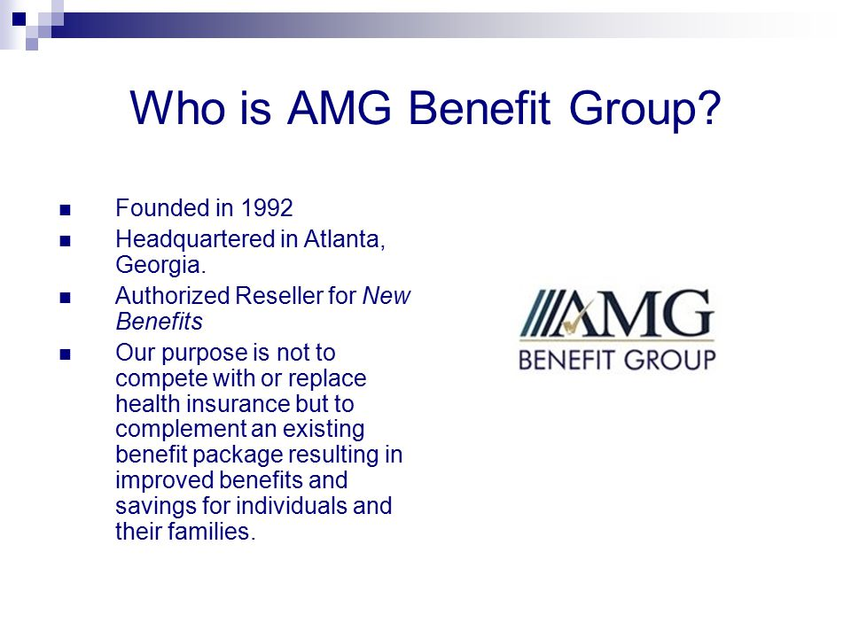Who is AMG Benefit Group