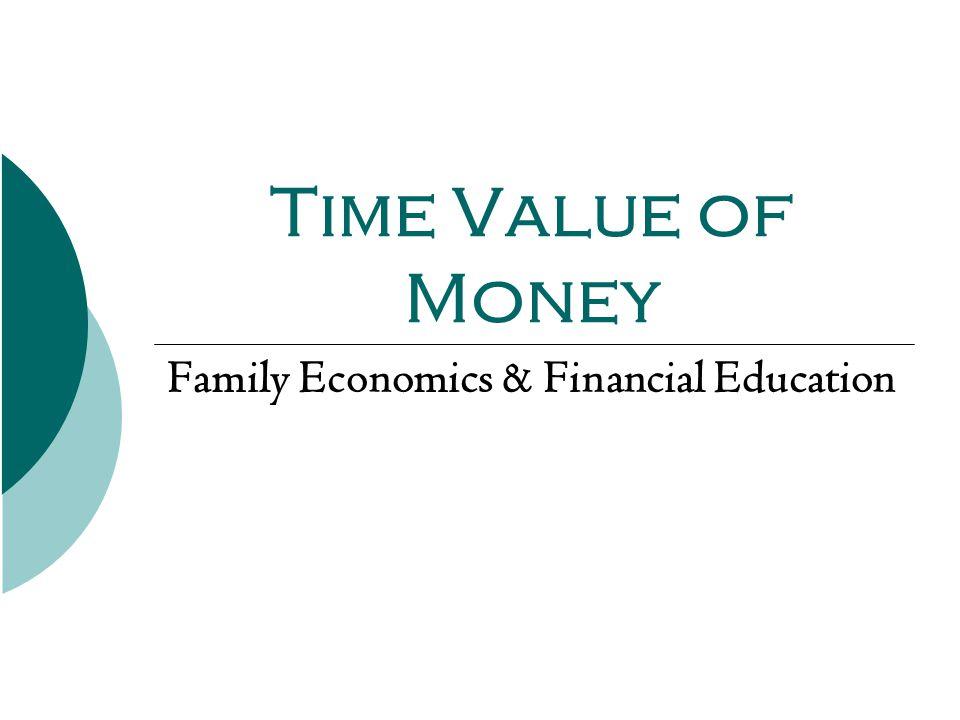 Family Economics & Financial Education