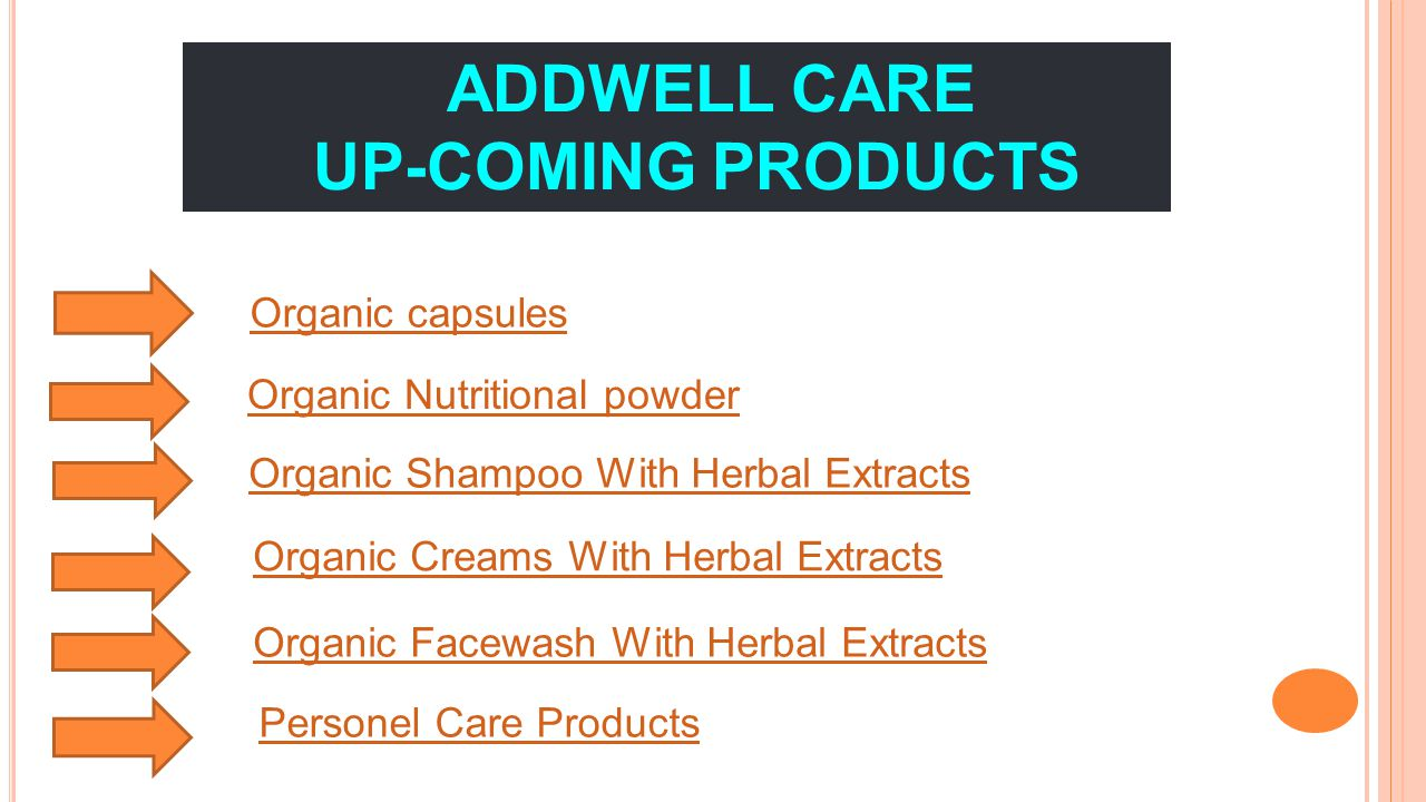 ADDWELL CARE UP-COMING PRODUCTS