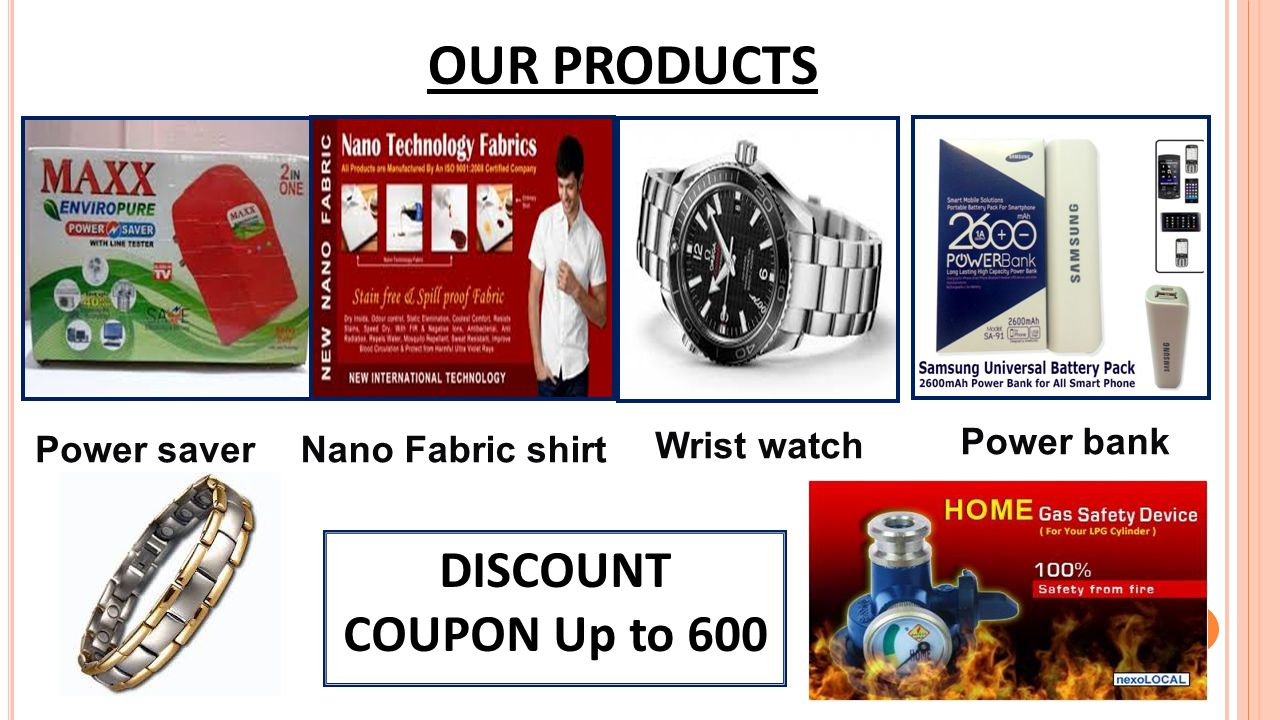 OUR PRODUCTS DISCOUNT COUPON Up to 600 Power saver Nano Fabric shirt