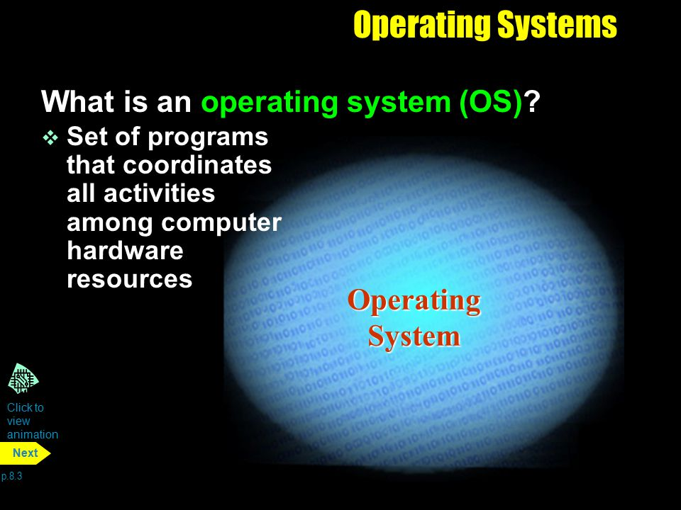 Operating Systems What is an operating system (OS) Operating System