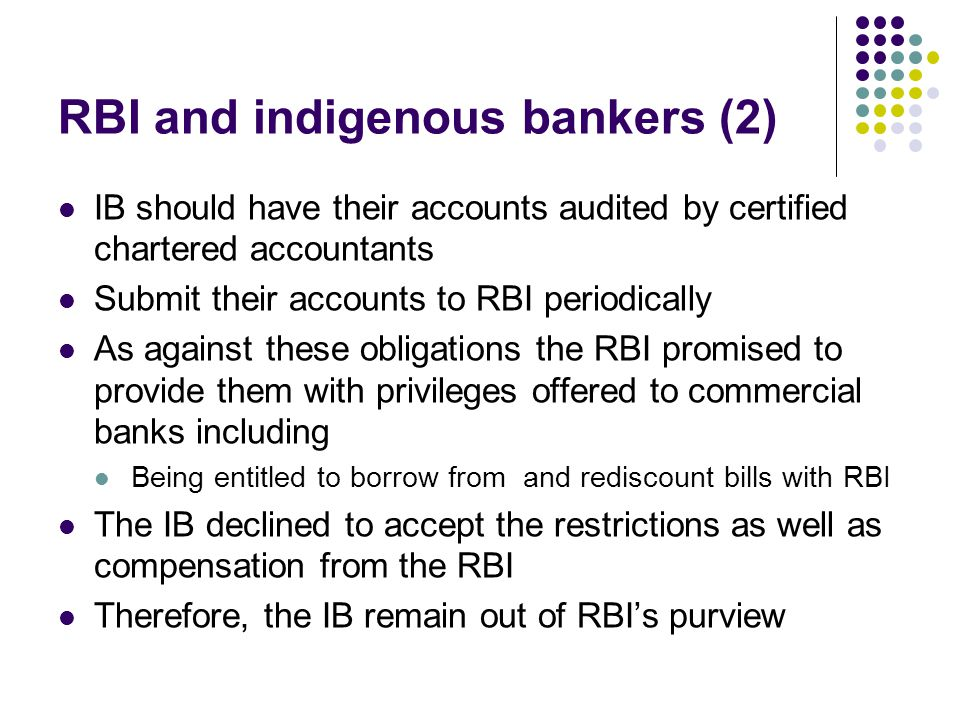 RBI and indigenous bankers (2)