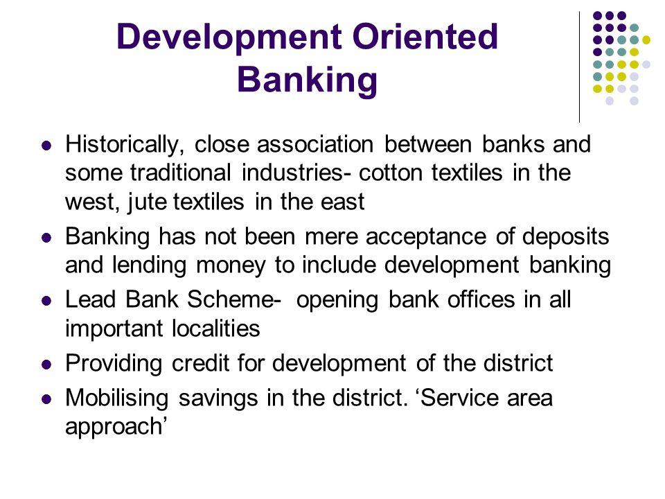 Development Oriented Banking