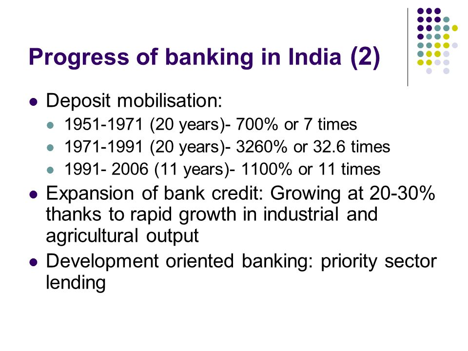 Progress of banking in India (2)