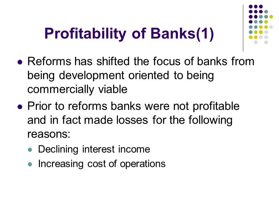 Profitability of Banks(1)