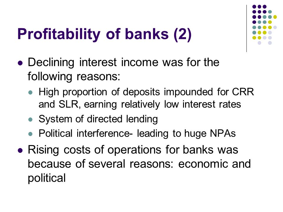 Profitability of banks (2)