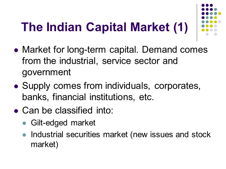 The Indian Capital Market (1)