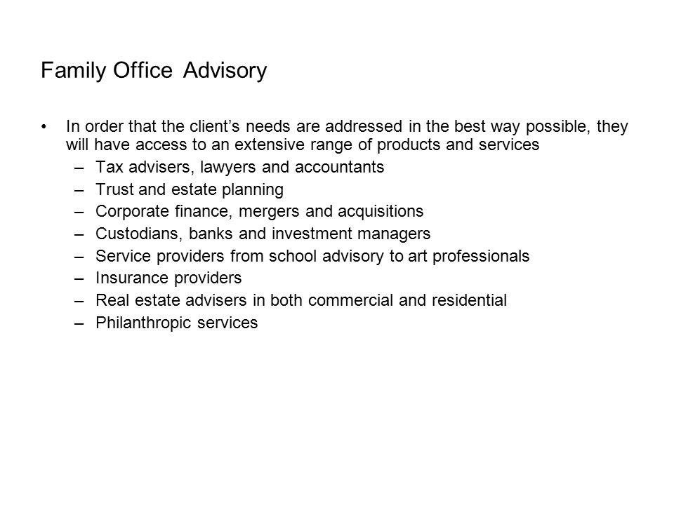 Family Office Advisory