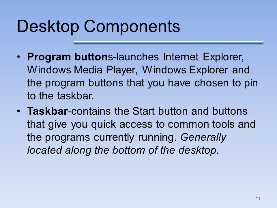 Desktop Components