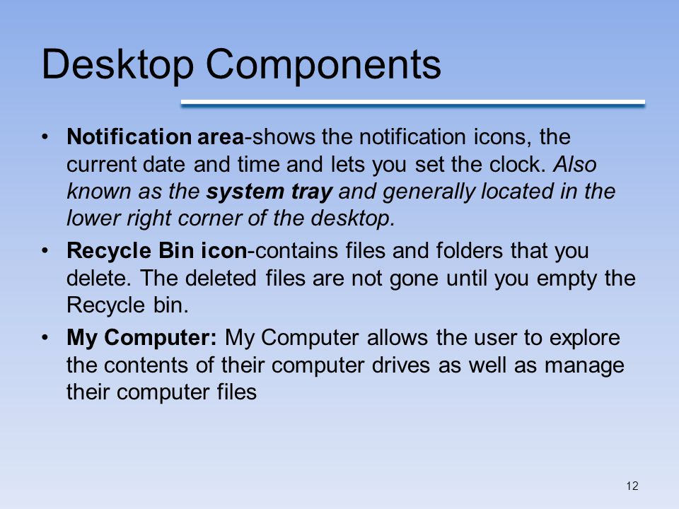 Desktop Components