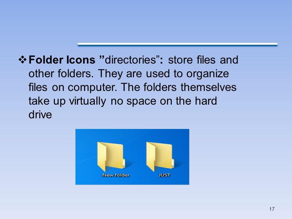 Folder Icons directories : store files and other folders