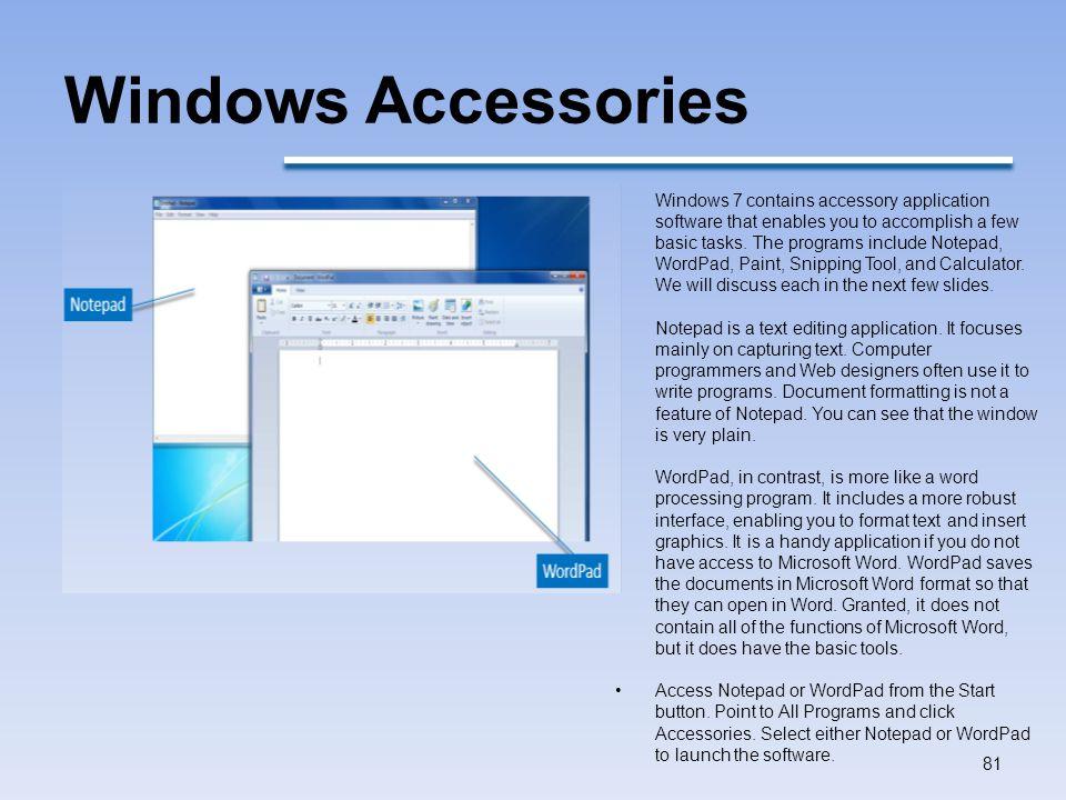 Windows Accessories