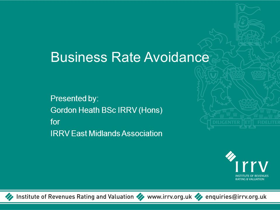 Business Rate Avoidance