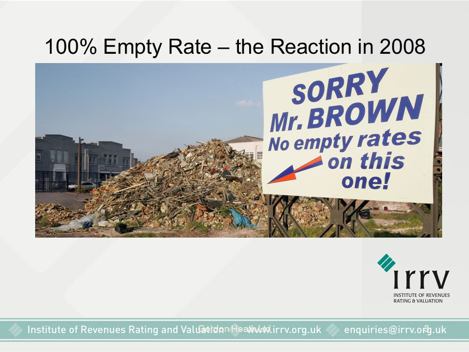 100% Empty Rate – the Reaction in 2008