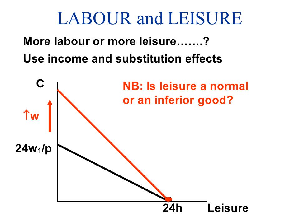 LABOUR and LEISURE More labour or more leisure…….
