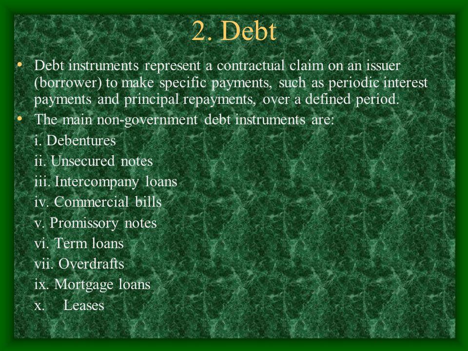 2. Debt