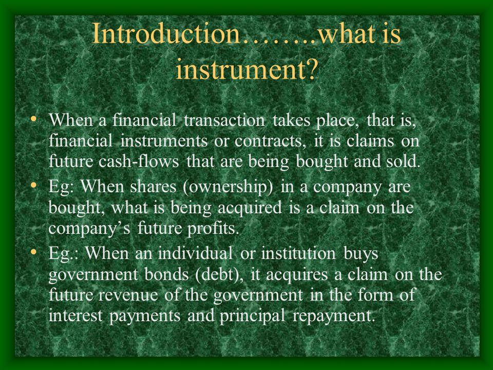 Introduction……..what is instrument
