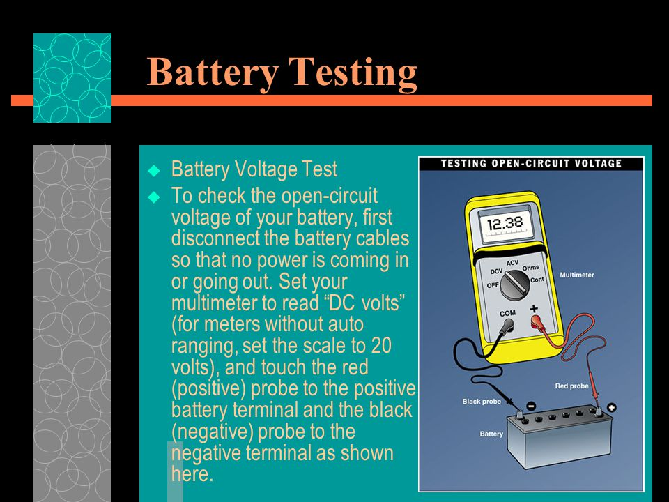 Battery Testing Battery Voltage Test