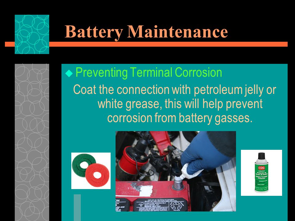 Battery Maintenance Preventing Terminal Corrosion