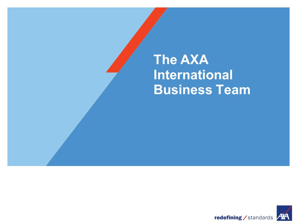 The AXA International Business Team