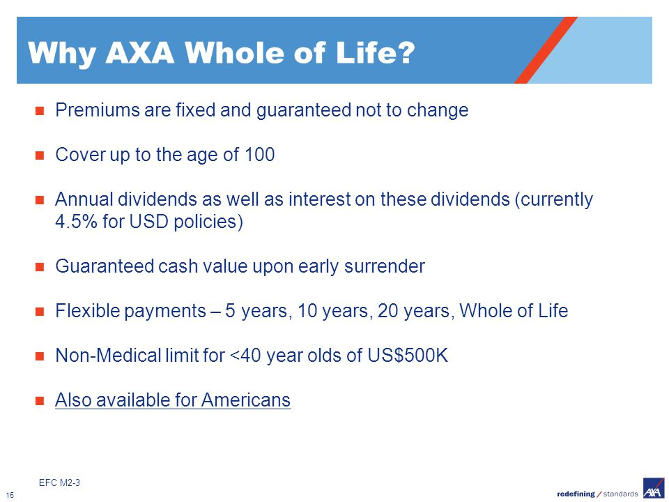 Why AXA Whole of Life Premiums are fixed and guaranteed not to change
