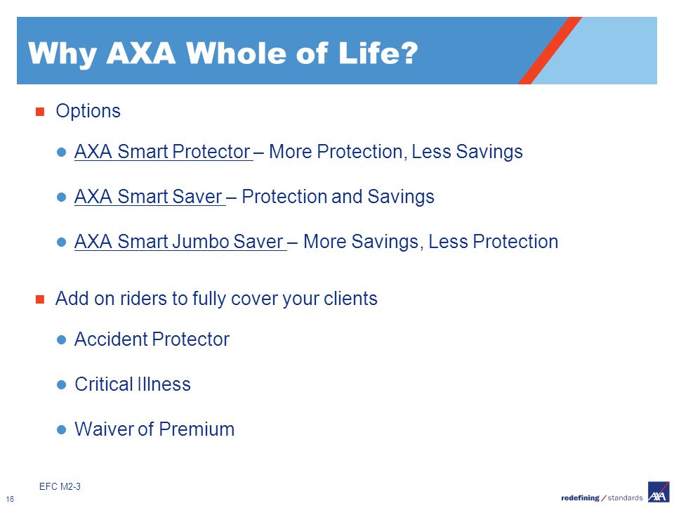 Why AXA Whole of Life Options