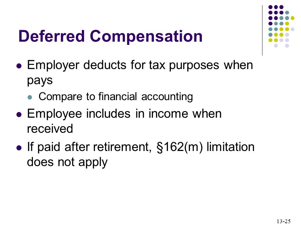 deferred compensation meaning