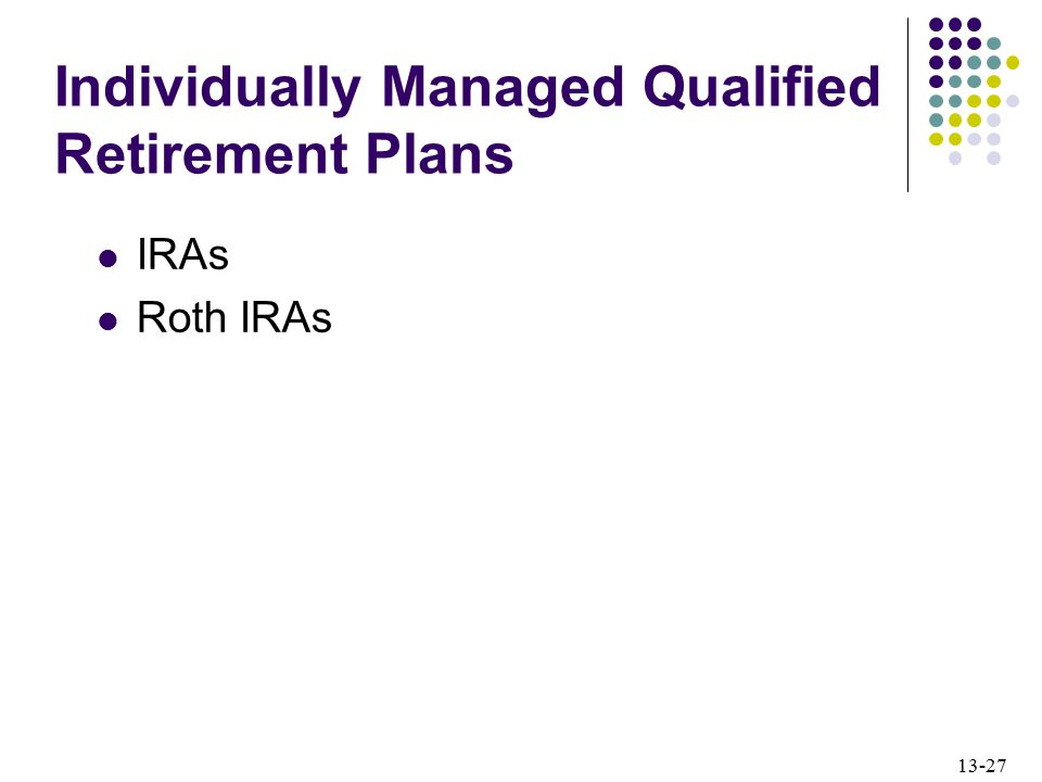 Individually Managed Qualified Retirement Plans