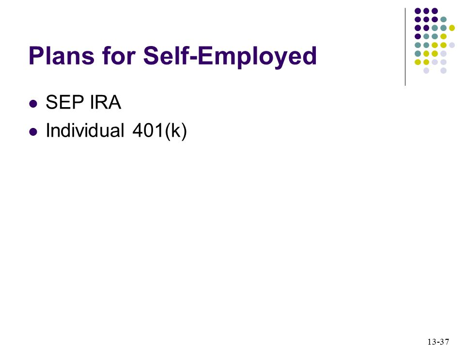 Plans for Self-Employed