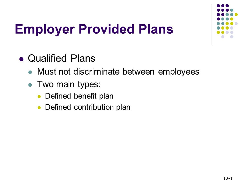 Employer Provided Plans