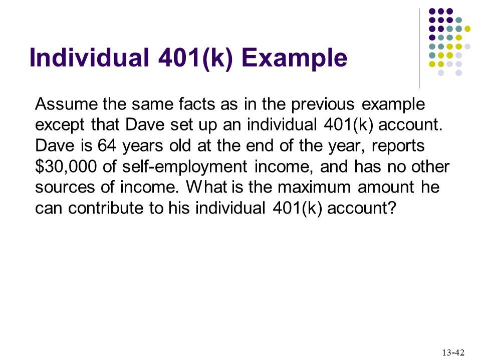 Individual 401(k) Example