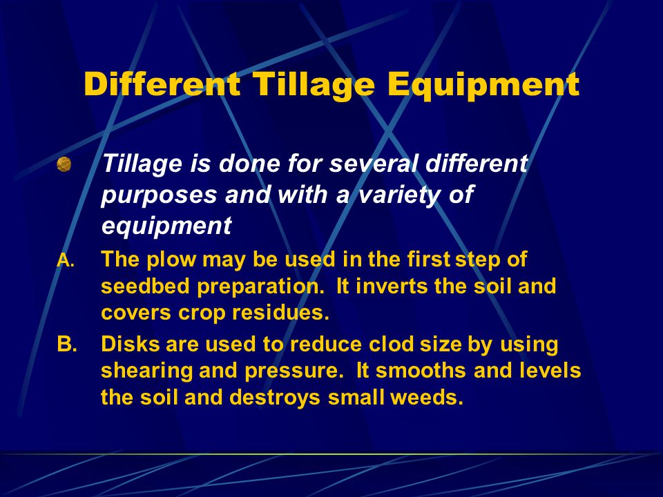 Different Tillage Equipment