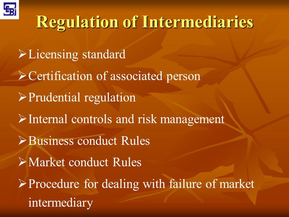Regulation of Intermediaries