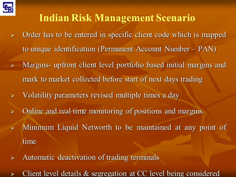 Indian Risk Management Scenario