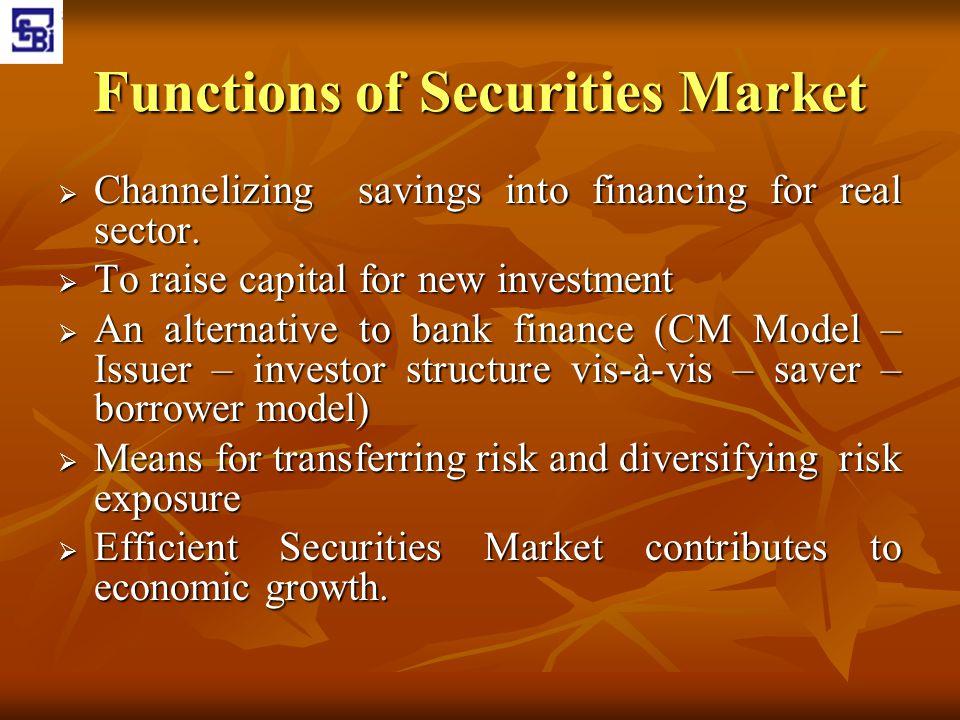Functions of Securities Market