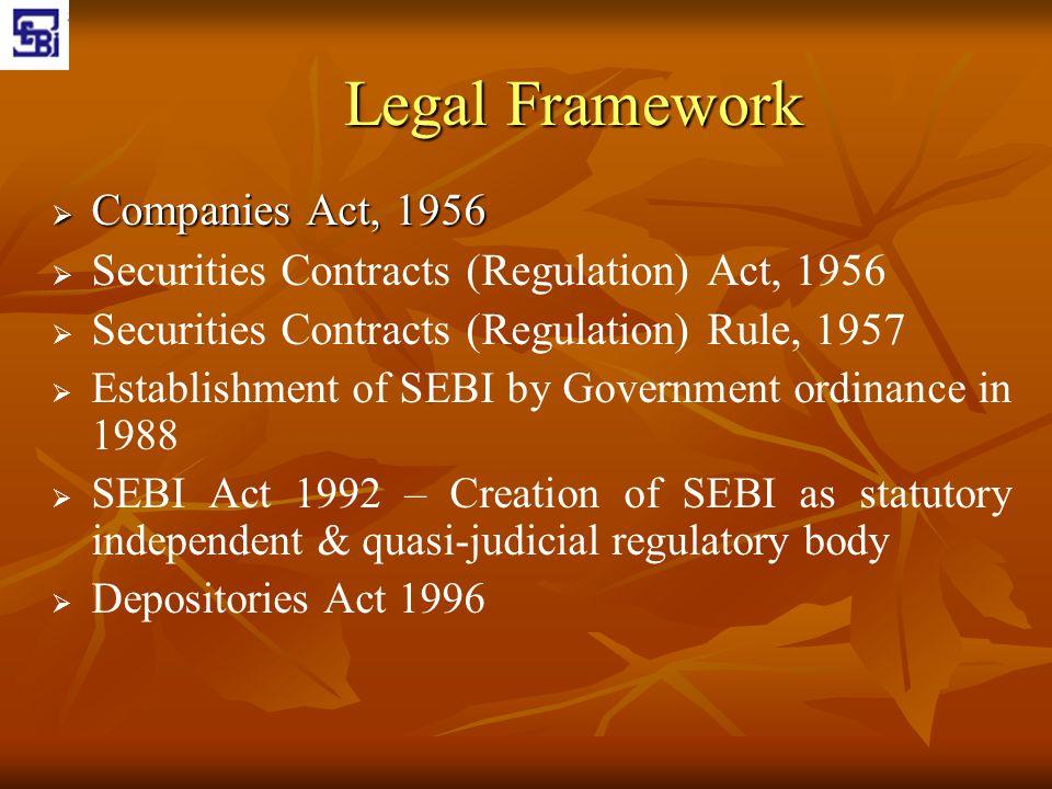 Legal Framework Companies Act, 1956