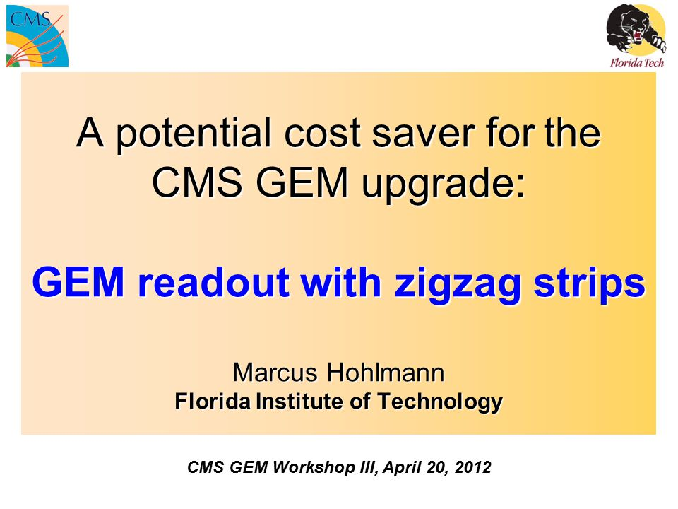 CMS GEM Workshop III, April 20, 2012