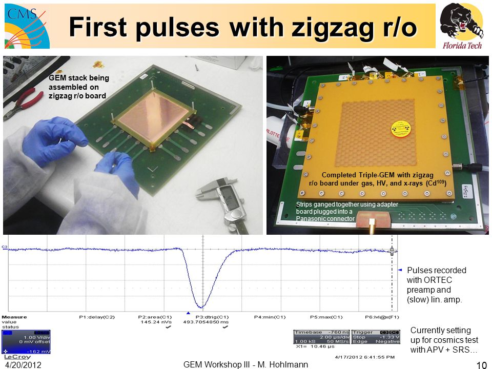 First pulses with zigzag r/o