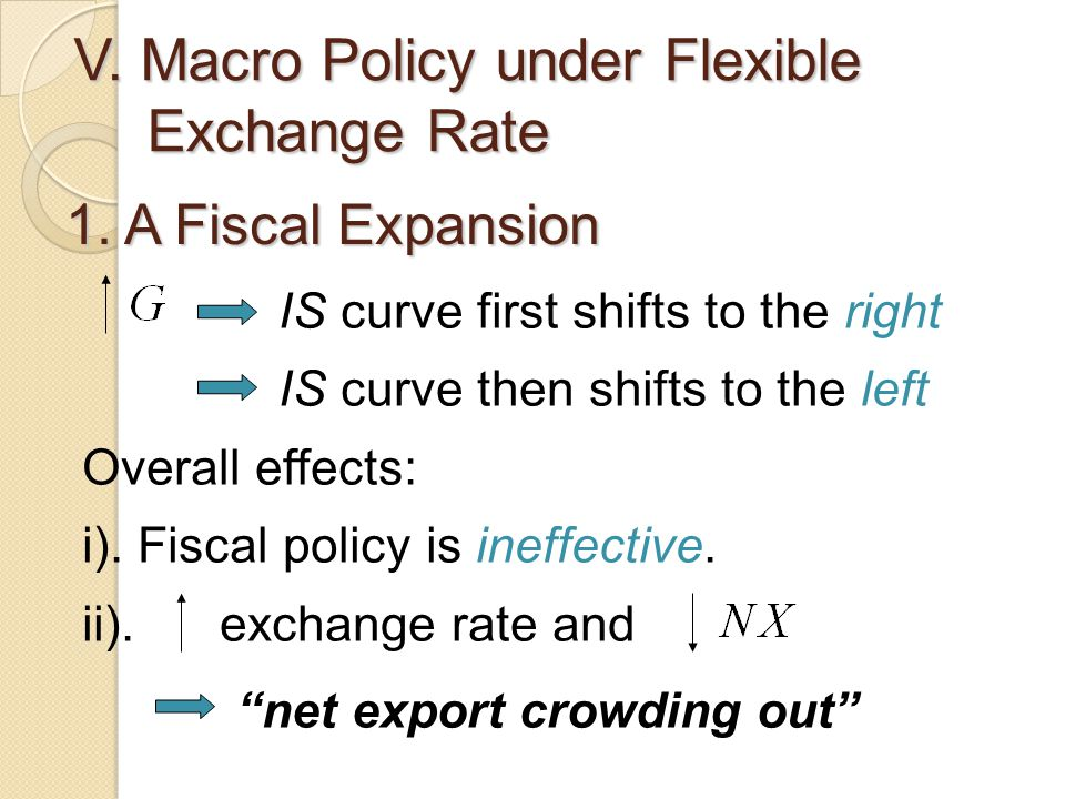 V. Macro Policy under Flexible Exchange Rate