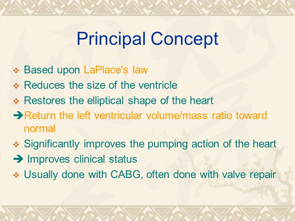Principal Concept Based upon LaPlace s law