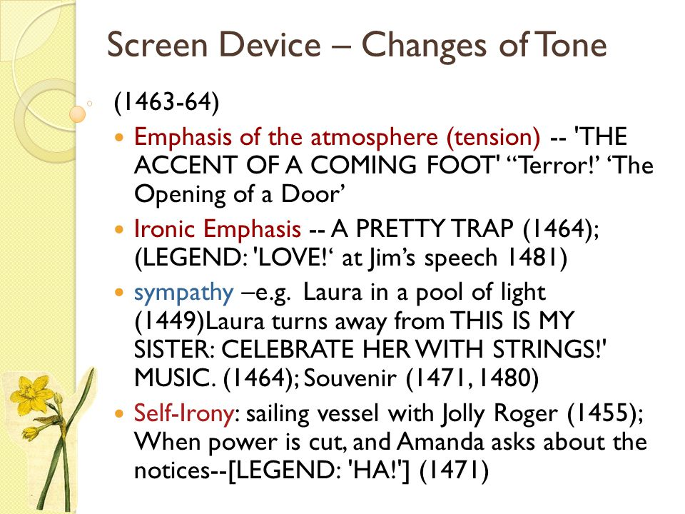 Screen Device – Changes of Tone