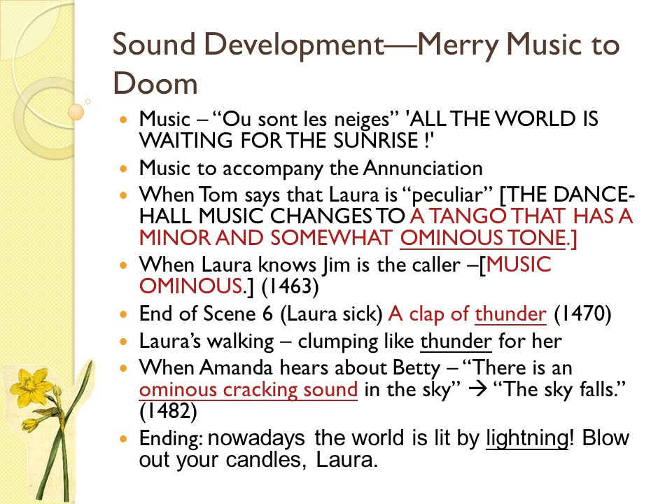 Sound Development—Merry Music to Doom