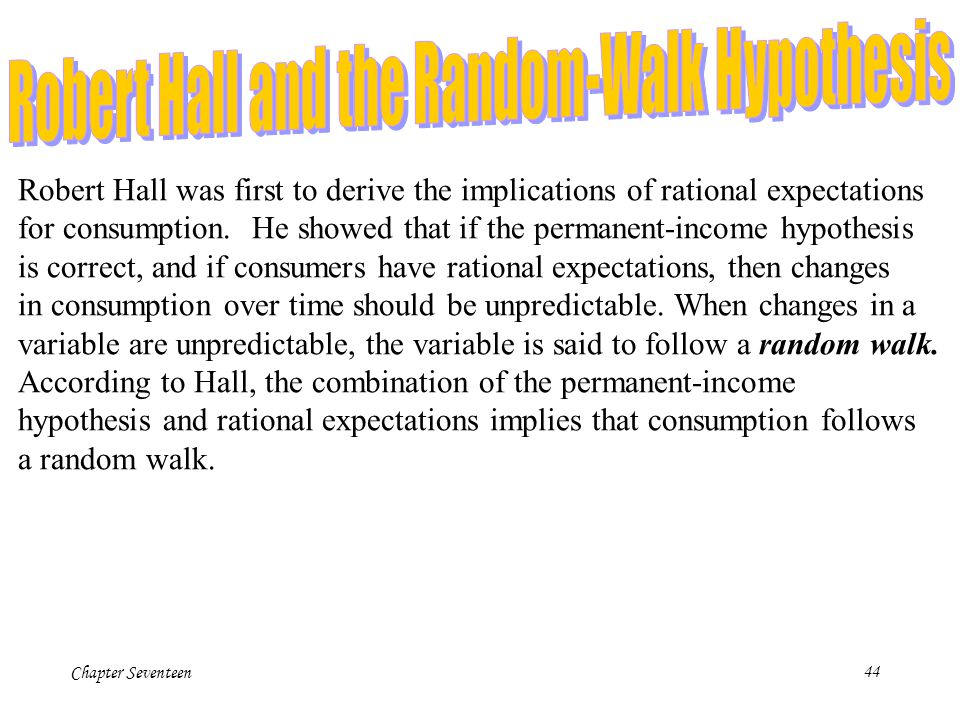 Robert Hall and the Random-Walk Hypothesis