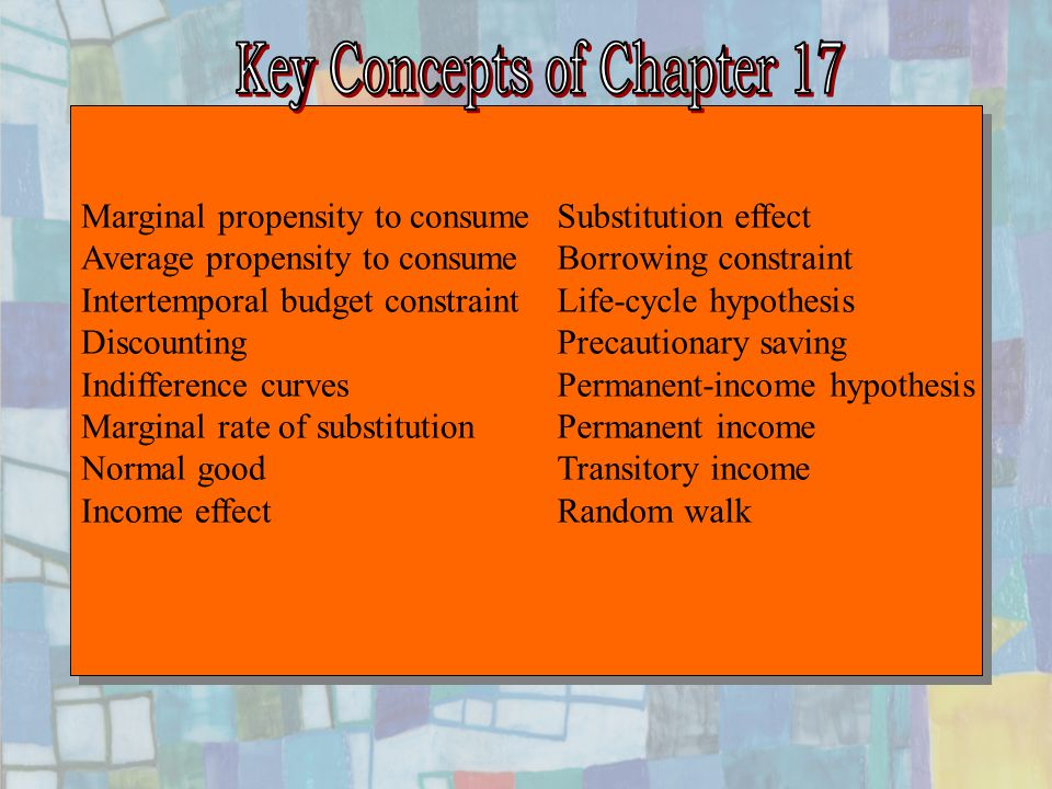 Key Concepts of Chapter 17