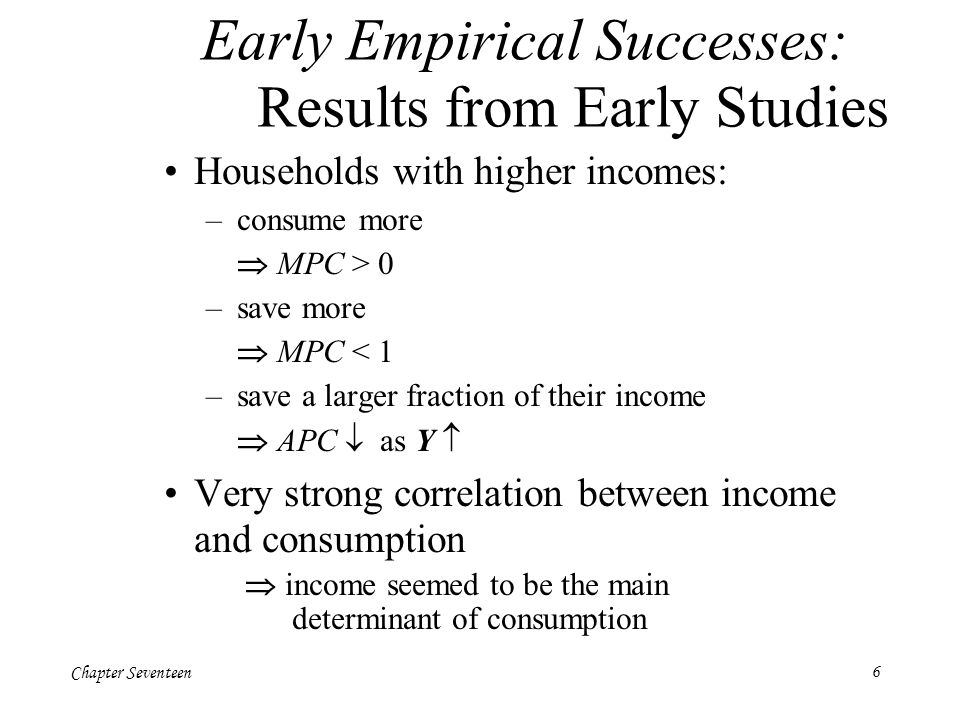 Early Empirical Successes: Results from Early Studies