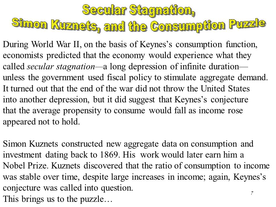 Simon Kuznets, and the Consumption Puzzle