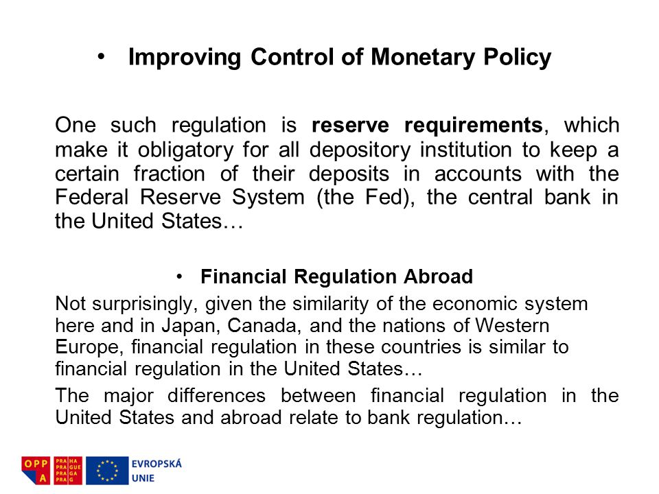 Improving Control of Monetary Policy